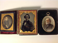 1846 DAGUERREOTYPE, AMBRO & MINIATURE PTG. PITTSBURGH IRON INVENTOR BUSINESSMAN