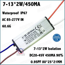 3PCS 85-277V LED Driver7-13x2W 450mA DC20-45V IP67ConstantCurrent 7-13PCS 2W LED