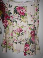 nwt cabi floral short cotton skirt size 12 style # 380