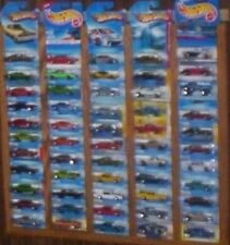 55 carded oak hot wheels matchbox display frame  blister pack  cars not included