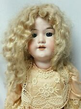 "Doll: Armand Marseille Bisque Head 27"" Composition Body Germany Blonde Blue Eyes"