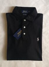 $85 NWT Mens Polo Ralph Lauren Black Pima Soft Touch Knit Short Sleeve Shirt M