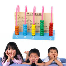 Kid Wooden Abacus Colorful Beads Counting Maths Maths Learning Educational Toy