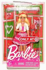 "Barbie Christmas Happy Holidays 4"" Mini Dolls Target Exclusive"