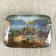 Antique French Paperweight Souvenir Glass EXPOSITION UNIVERSELLE 1900 France