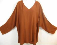 TIENDA HO~COPPER~susti~MOROCCAN COTTON~UNIQUE!~Wrap Front Tishka Top~OS