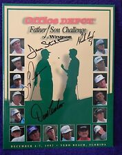 AUTOGRAPHED GOLF PROGRAM  FATHER& SON CHALLENGE DEC. 1997 CHARLES COODY