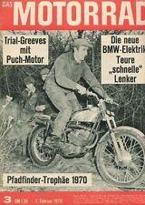 M7003 + KLOTZ Motorräder + GREEVES Pathfinder + Das MOTORRAD 3/1970