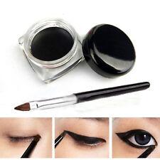 Black Cosmetic Waterproof Eye Liner Eyeliner Shadow Long Last Gel Makeup & Brush