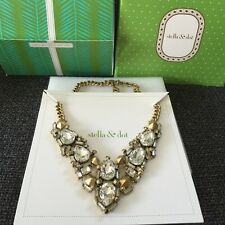 Authentic Stella & Dot Zora Crystal Statement Necklace.