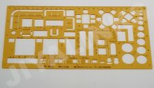 ARCHITECTURAL FURNITURE LAYOUT TEMPLATE STENCIL TECHNICAL DRAWING METRIC 1:50