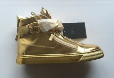 Giuseppe Zanotti In Pelle Metallica London Hi-Top Tg UK 9 EU 43 RRP £ 780