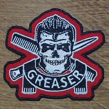 Motorcycle Biker Jacket Cafe Racer Rocker Rockabilly Cloth Patch Badge GREASER