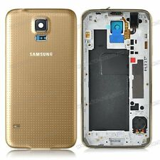 Samsung Galaxy S5 Housing Middle Frame Chassis Mid Bezel - gold