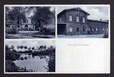 96540 AK Schübben Zanow Sianow Bahnhof Gutshaus Rige Idyll 1935 Landpoststempel