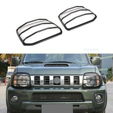 2pcs Car Front Headlight Lamp Cover Trim Frame-Black for Suzuki Jimny 2007-2015