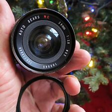 Auto Sears MC 28mm  2.8 for Minolta MD- Excellent with Haze filter and lens case