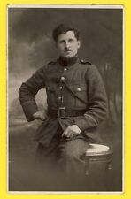 cpa Carte Photo Atelier J. de JONG, BELGIQUE ANVERS MILITAIRE SOLDAT