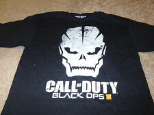 Call of Duty Mens Black Ops III 3 Black Skull  T-Shirt  Size Small S