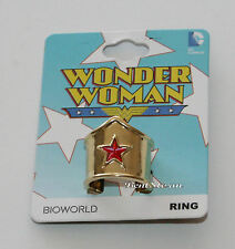 NEW DC Comics Wonder Woman Tiara Crown Metal Costume Jewelry Ring Ladies size 7