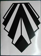 GRANDE Stile Art Deco Nero Lucido Decorazione da Parete Adesivo Vinile (25-09)