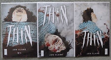 THIN #1-3 SET..JON CLARK..AMERICAN GOTHIC PRESS 2016 1ST PRINT..NM..SOLD OUT
