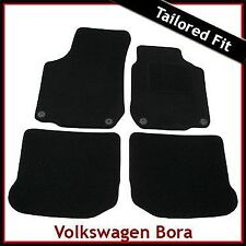 Volkswagen VW Bora 1998-2005 Round Eyelets Tailored Fitted Carpet Car Mats BLACK