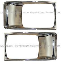 International Truck 3800 4700 4800 4900 Headlight Bezel Pair Chrome - 2piece