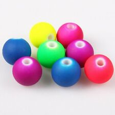200pcs Wholesale New Mixed Colors Smooth Ball Acrylic Rubber Spacer Beads 8mm J