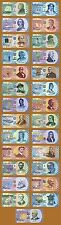 SET, USA States, $50, Polymer, ND (2014-2017), 27 Bank Note Collection, UNC