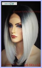 LACE FRONT LACE MIDDLE PART CUTE ANGLED BOB  TT1B/DARKGREY GORGEOUS SEXY WIG 371