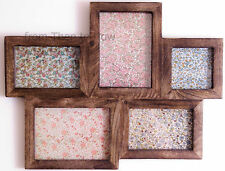 Large Wooden Collage 5 Five Photo Frame Picture Multi Wood Chic Shabby Vintage