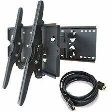 "Wall Bracket Mount Dual Arm LED LCD Plasma TV Tilt Supports 30"" to 85"" Screens"