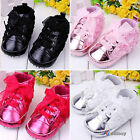 Toddler Baby Girl  Soft Sole Lace Up Crib Sneaker Shoes Prewalker Boots US 1-6