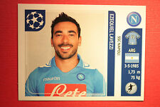 PANINI CHAMPIONS LEAGUE 2011/12 N 70 LAVEZZI NAPOLI WITH BLACK BACK MINT!!
