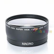 58mm 0.45X Wide Angle Marco Lens For Canon EOS 700D 650D 600D 1100D 1200D 60D