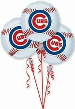 3 CHICAGO CUBS new BALLOONS party WORLD SERIES baseball MLB favors FOIL sports