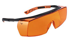 Univet 5X7 Ultimate Overspecs Italian Safety Orange Work Glasses (5X7.03.00.04)