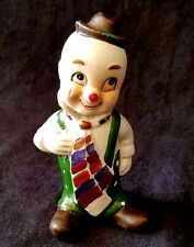 Vintage Porcelain Bisque Clown, Collectible Tramp, Soulful Jester, Circus Clown