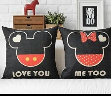 Mickey Mouse & Minnie Mouse Pair Of Cushion Covers. Brand New.Wedding
