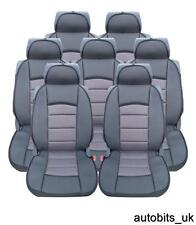 FULL SET 7X GREY PREMIUM COMFORT PADDED SEAT COVERS FOR 7 SEATER CAR VAN SUV