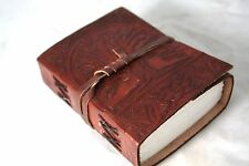 Handmade Leather Journal Tree Of Life Small Diary Notebook Acid Free Paper 5x3.5
