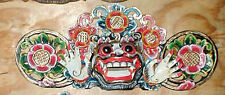 "Bali Hindu Boma Mask Great for Entrance way Hand carved 16"" WHITE"