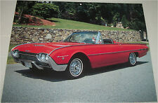 1962 Ford Thunderbird Sport Roadster car print (red, no top L)