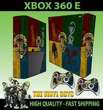 XBOX 360 E Hogwarts Houses Logo Harry Potter Draco  STICKER SKIN & 2 PAD SKIN