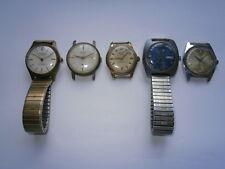 Lavoro LOTTO DI VINTAGE Gents Orologi da polso orologi meccanici pezzi di ricambio o riparazione Swiss