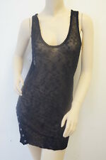 TOPSHOP Limited Black Mesh Tunic Top Dress 12 £38 MX5