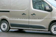 PROTECTIONS LATERALES X2, HOMOLOGUE , INOX, 60MM, OPEL VIVARO 2014- L2,POLI MAIN