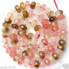 Beautiful 5x8mm Faceted Multicolor Tourmaline Gemstone Abacus Loose Beads 15""