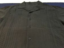 Vintage Silk Shirt Bowling Charlie Sheen Large L All Black